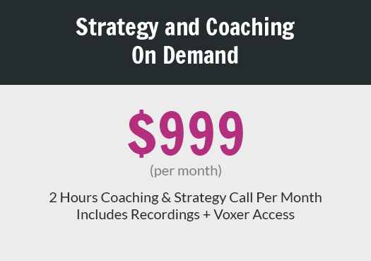 Strategy and Coaching On Demand